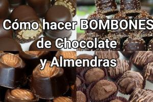 bombones de chocolate y almendras