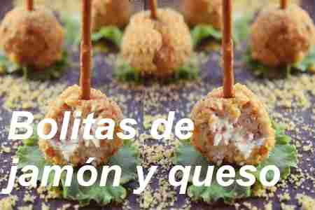 Bolitas de jamón y queso Hierbas: 【Cocina fácil】