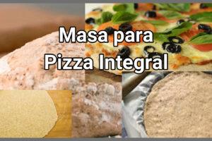 masa para pizza integral como hacerla