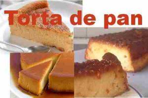 Receta de la torta de pan fácil 1
