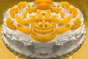 Torta fría de melocotón