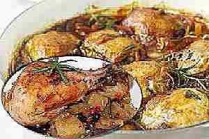 pollo con romero
