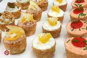 Tartaletas como botana pasapalos frio o caliente