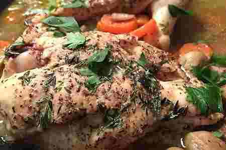 Cómo hacerel pollo con romero y papas