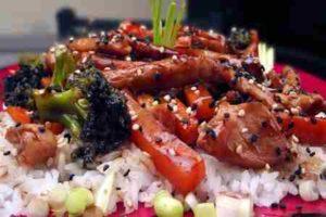 Carne en salsa teriyaki 1