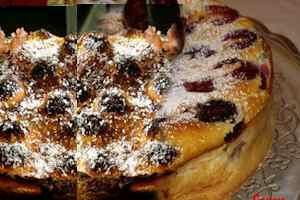 Torta fría de ciruelas pasas