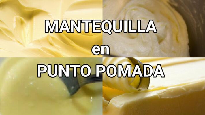 mantequilla en punto pomada como hacer