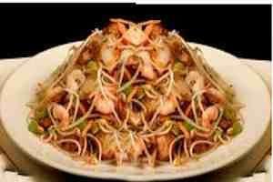 Chop suey con camarones o con otro tipo de carne