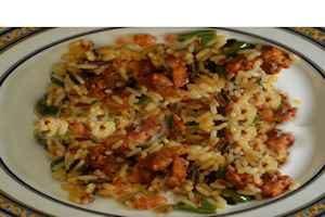 como hacer el arroz salteado con chorizos