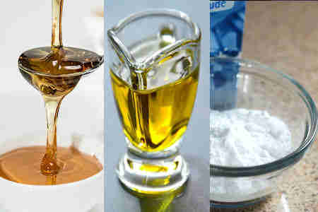 Mascarilla casera miel aceite de oliva bicarbonato