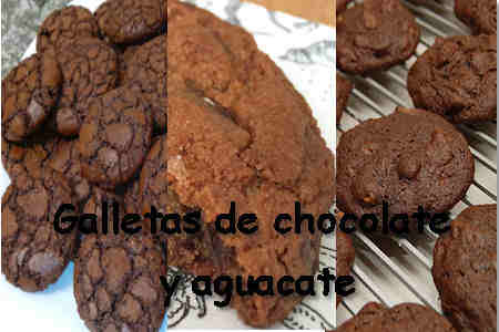 galletas de chocolate y aguacate saludables