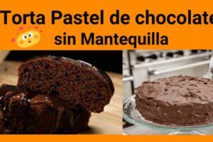 torta de chocolate sin mantequilla
