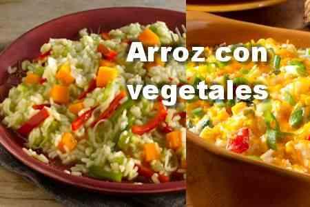 Arroz con vegetales【Cocina fácil】
