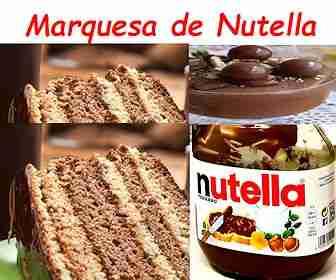 Marquesa de Nutella 【Receta sabrosa y muy fácil】