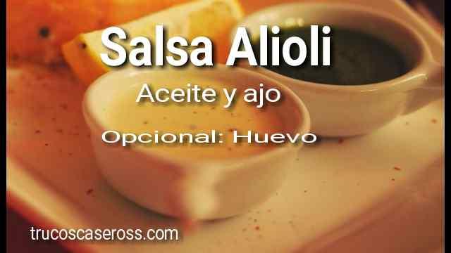 Cómo hacer una Salsa Alioli