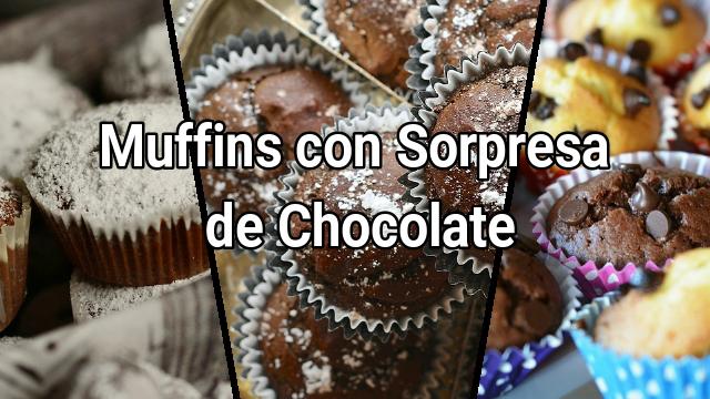Muffins con sorpresa de chocolate