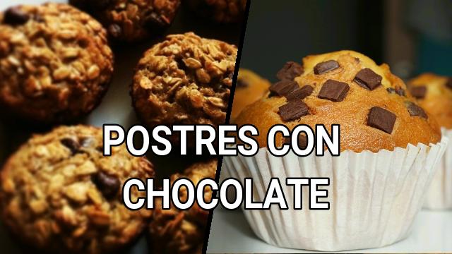 postres con chocolate ricas recetas