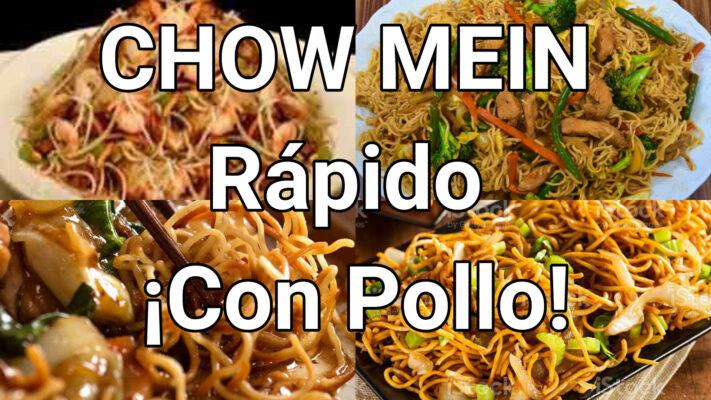 chow mein rapido con pollo