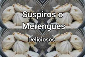 suspiros o merengues deliciosos